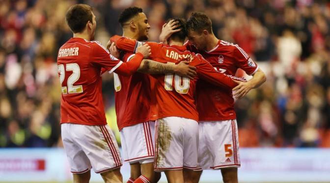 Nottingham Forest celebrate scoring