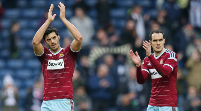West Ham's James Tomkins and Joey O'Brien