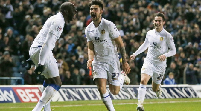 Leeds United's Alex Mowatt celebrates