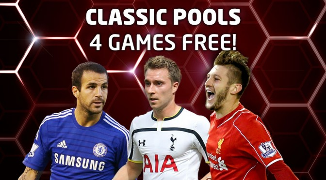 4 Games FREE on Classic Pools