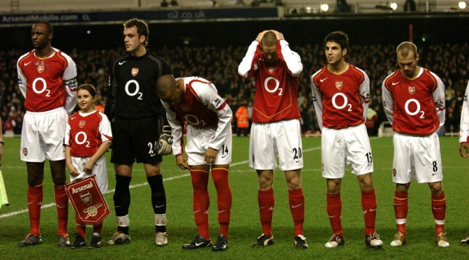 Arsenal's 2004/05 second place finishing side
