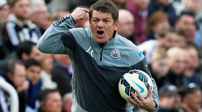Newcastle United head coach John Carver