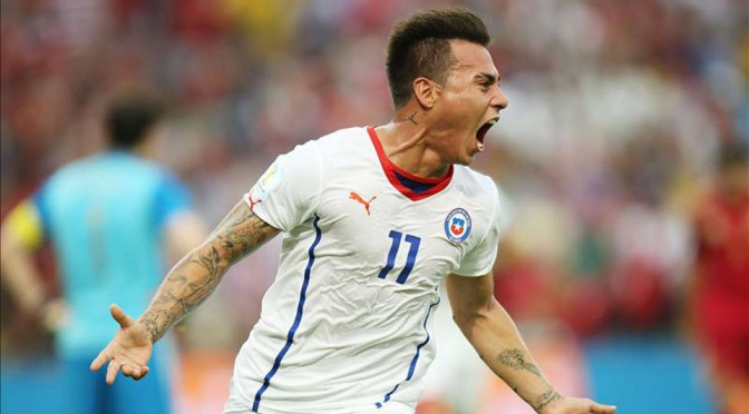 Chile Striker Eduardo Vargas